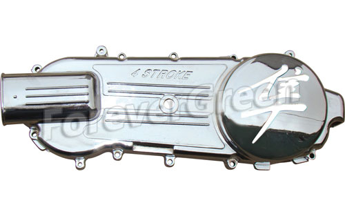 CH021C Chrome Left Cover (Hayabusa logo)